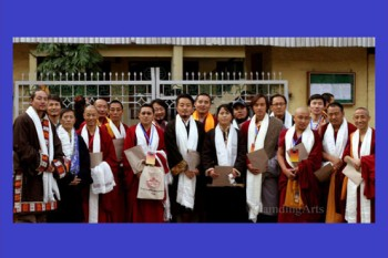 Tibetan youths during their first meeting held in Dharamshala, India. Photo: Outlook Tibet
