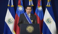 Taiwan President Ma Ying-jeou delivers a speech after signing agreements with El Salvador's President Salvador Sanchez Ceren at the Presidential House in San Salvador July 2, 2014. Photo: Reuters files