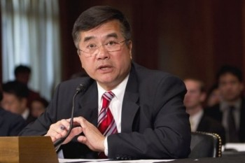 US Ambassador to China nominee Gary Locke testifies on Capitol Hill in Washington, Thursday, May 26, 2011, before the Senate Foreign Relations Committee hearing on his nomination/Associated Press Photo