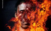 Self-immolations in Tibet, designed photo: Tibetotay.com