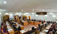 The inaugural of the 6th session of the 15th Tibetan Parliament-in-Exile on 18 September 2013.