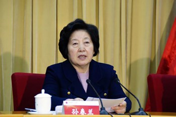 Sun Chunlan, head of the United Front Work Department. Photo: Media File