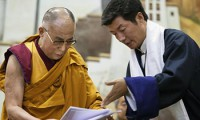 Sikyong Dr Lobsang Sangay with His His Holiness the Dalai Lama. Photo: Media File
