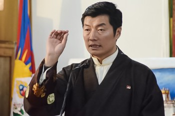 Dr. Lobsang Sangay, Prime Minister of the Tibetan government. Photo: Outlook Tibet