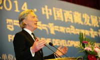 Lord Davidson, speaking at the two-day conference held in Lhasa, organised by China's Communist Party that concluded on 13 August, 2014. Photo: News CN