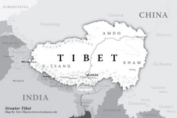 Map of Tibet. Photo: TPI/file