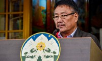 Officiating Sikyong Kalon Sonam Topgyal Khorlatsang addressing the official 81st birthday celebration of His Holiness the Dalai Lama, 6 July 2016. Photo: Outlook Tibet