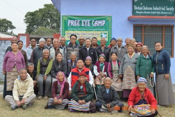 Members and patients at Eye Camps organised at Tibetan Settlements of Herbetpur and Ravangla