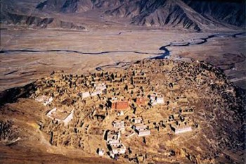 Ganden Monastery, one of the largest monasteries in Tibet, was home to more than 5000 monks before 1959. It was destroyed during the Cultural Revolution and now houses only around 500 monks. Photo: Tibet Museum