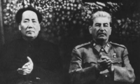 1949 Mao Tsu-tung and Joseph Stalin in Moscow