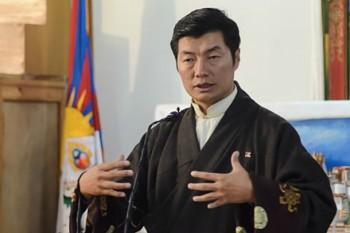 President of Tibet, Dr Lobsang Sangay in Dharamshala, India. Photo: TPI