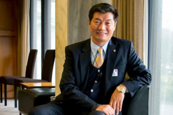 The president of the Tibetan government-in-exile, Lobsang Sangay