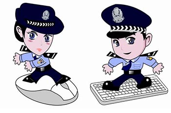 In 2006, these two animated characters, Jingjing and Chacha, appeared on websites in Shenzhen, China, to remind Internet users that they were being monitored.